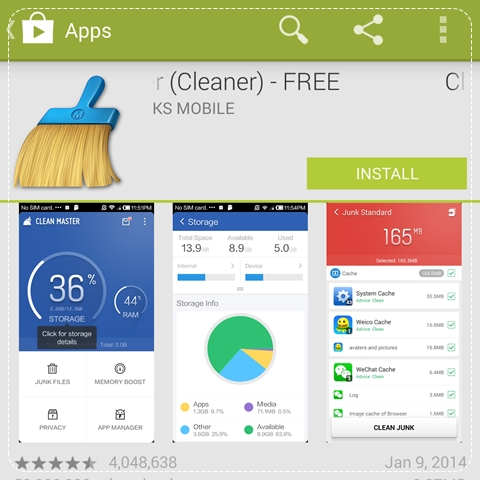 how to uninstall clean master app