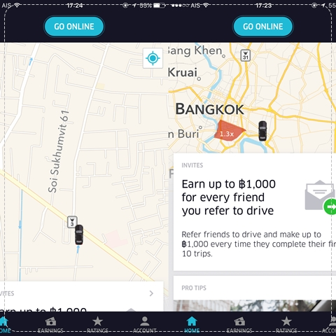 uber-partner-app-review-how-to-earn-start-driver-passive-income-thai-bangkok-free-code