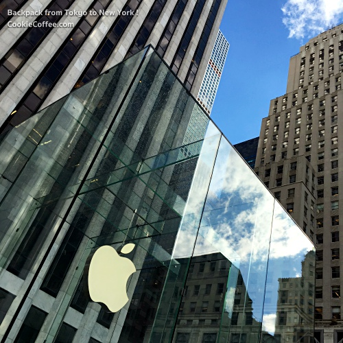 apple-store-new-york-5th-avenue-glass-box-review-blue-sky-backpacker-iphone-6s-7