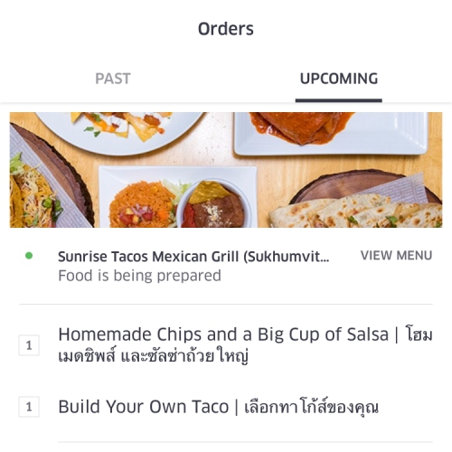 ubereats-review-free-promocode-150-baht-bangkok-thailand-food-delivery-cheat-sunrise-tacos-chips-salsa-mexican-menu