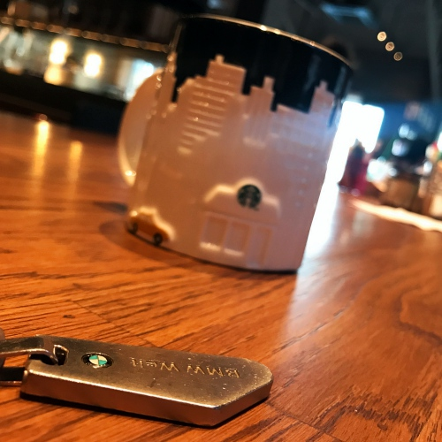 bmw-welt-museum-munich-germany-keychain-starbucks-mug-new-york-taxi-yellow