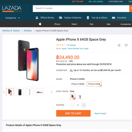 failed-sale-iphone-x-64gb-apple-store-online-lazada-promocode-voucher-34490-thb-free-ship