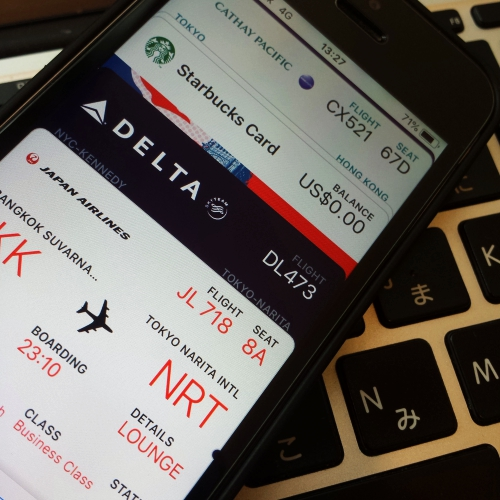 apple-wallet-pay-add-boardingpass-jal-business-class-starbucks-delta-japan-narita-tokyo