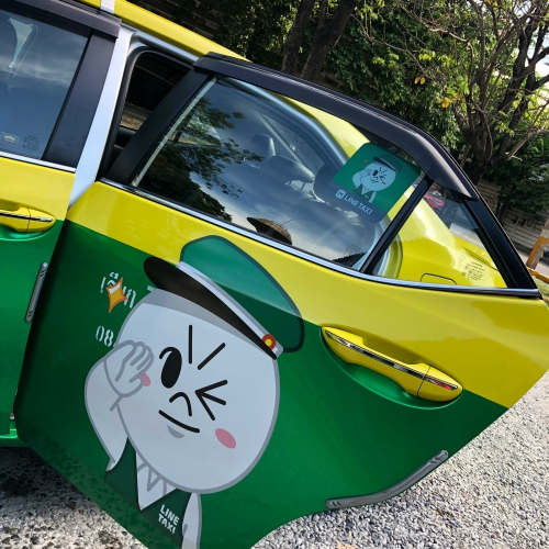 line-man-taxi-sticker-free-promocode-vs-grab-car-thai-uber-deal-airport-iphone-x
