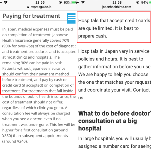 visa-cigna-japan-free-travel-insurance-credit-card-review-hospital-claim-cash-only-payment