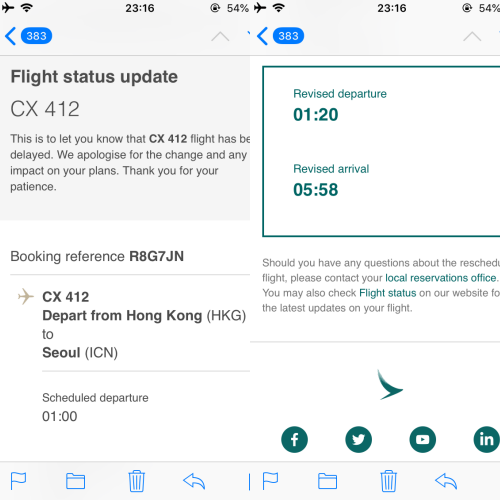 cathay-pacific-business-class-review-backpacker-5-stars-delayed-hk-korea-notice