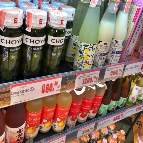 choya-sake-umeshu-donki-hote-mall-thonglor-review-queue-open-shop-imported-japan-24-hours